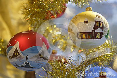 Old christmas baubles