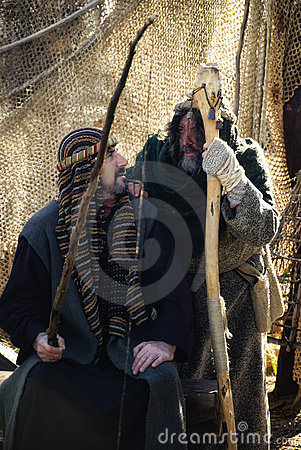 Old christmas scenes, Spain. Editorial Stock Photo