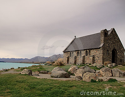 Old church besides Lake Tekapo