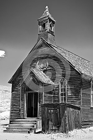 Free Old Church, Bodie California Stock Photography - 29306052