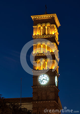 Free Old Church Clock Tower Royalty Free Stock Image - 34020206
