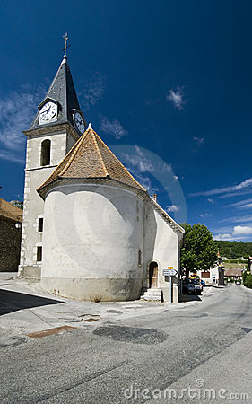 Old church with clock tower