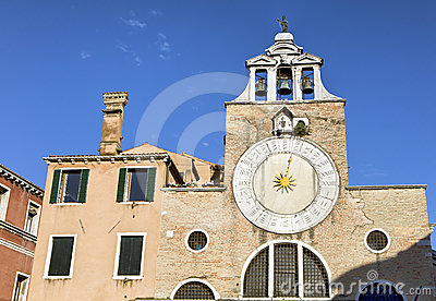 Old church clock in Venice