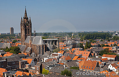 Old Church Delft City The Netherlands
