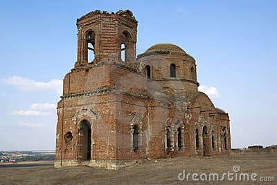Old church destroyed.Rostov-on-Don, Russia.