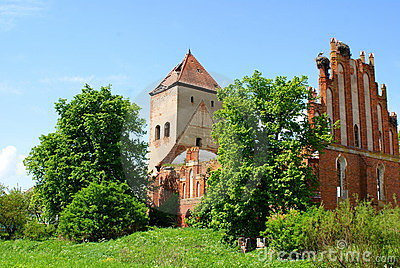 An old church in Dvorkin (Fridenburg), Kaliningrad