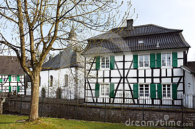 Old church and half-timbered house, Haan-Gruiten