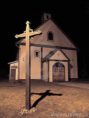 Old Church At Night Royalty Free Stock Photos Image 8497588