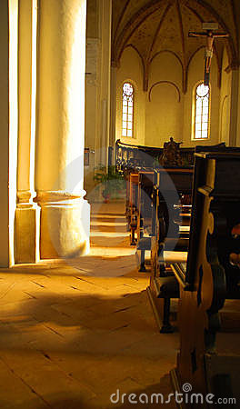 Old church sanctuary