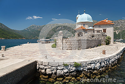 Old church on small island in Bay of Kotor
