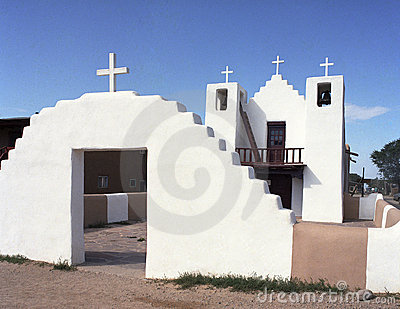 Old Church at Taos, New Mexico