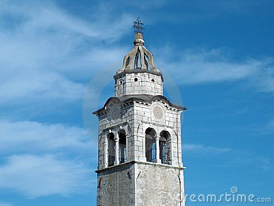Old Church tower with sky