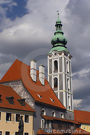Old church in the town Cesky Krumlov)