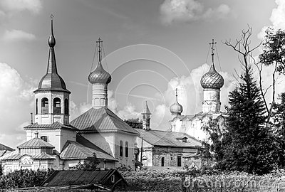 Old churches of rostov, Russia.