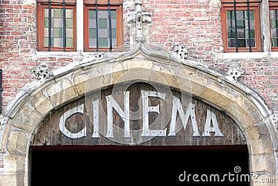 Old cinema sign