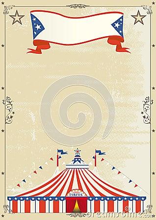 Old Circus grunge poster.