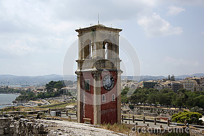 Old citadel in Corfu Town (Greece)