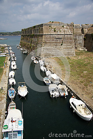 Old citadel in Corfu Town (Greece) Editorial Photography