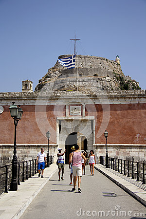 Old citadel in Corfu Town (Greece) Editorial Stock Image