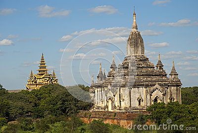 Old city Bagan Stock Photo
