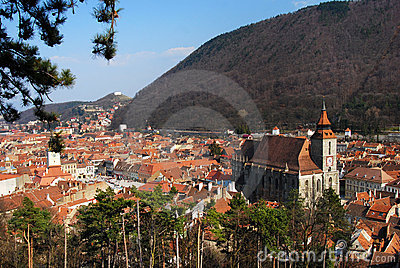 Old city of Brasov, Romania