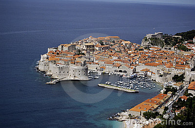Old city of Dubrovnik and Adriatic coast.