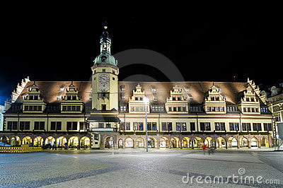 Old city hall in Leipzig