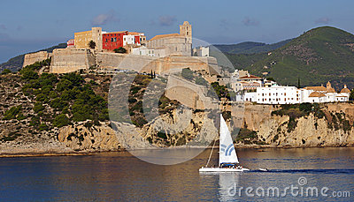 Old city in Ibiza