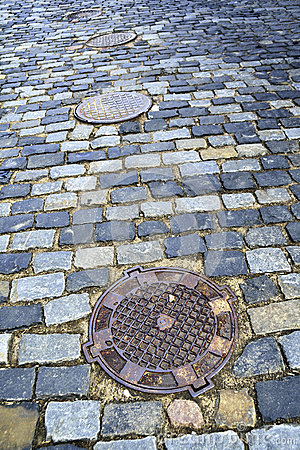 Old city pavement
