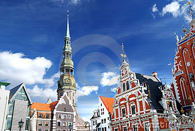 Old city in Riga, Latvia