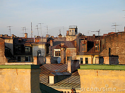 Old city roof
