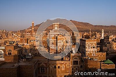 Old city of Sana in Yemen