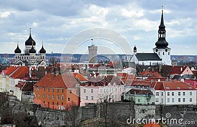 Old city in Tallinn, Estonia