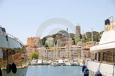 Old City two yachts Cannes French Riviera