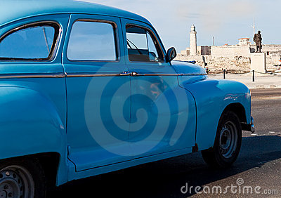 Old classic american car in Havana Editorial Image