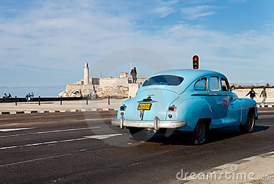 Old classic american car in Havana Editorial Photography