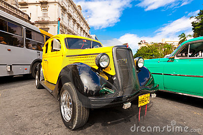 Old classic american car, an icon of Havana Editorial Photography