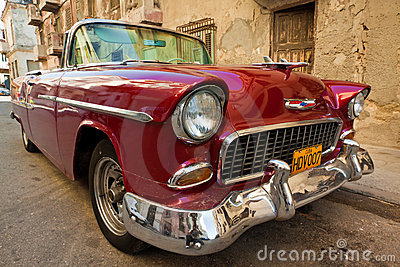 Old classic american car, an icon of Havana Editorial Image