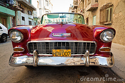 Old classic american car, an icon of Havana Editorial Photo