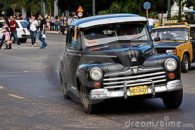 Old classic american car in the streets of Havana Editorial Photography