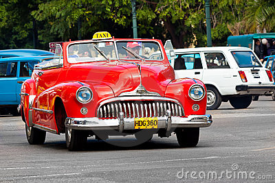 Old classic american car in the streets of Havana Editorial Stock Image