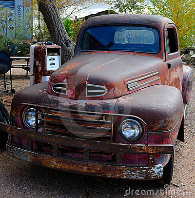 Old classic ford pick up truck