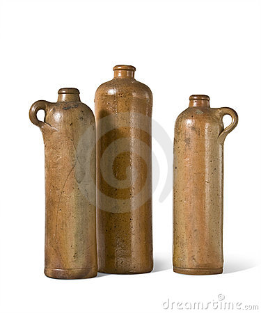 Free Old Clay Bottles Royalty Free Stock Photos - 11976588