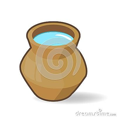 Old clay jar