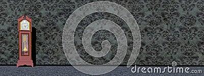 Old clock - 3D render