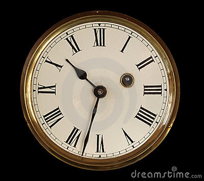Old Clock Face Stock Image - Image: 12011891
