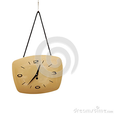 Old Clock Isolated on white .