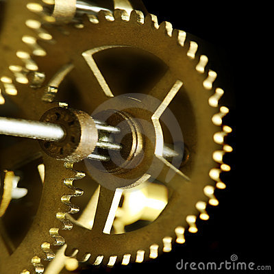 Free Old Clock Mechanism Royalty Free Stock Photography - 4906377