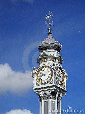 Old clock on the sky