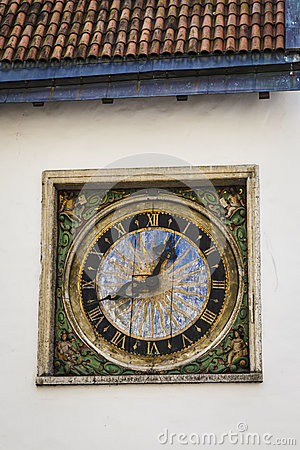 Old Clock On Tallinn Building Stock Photo Image 40063278